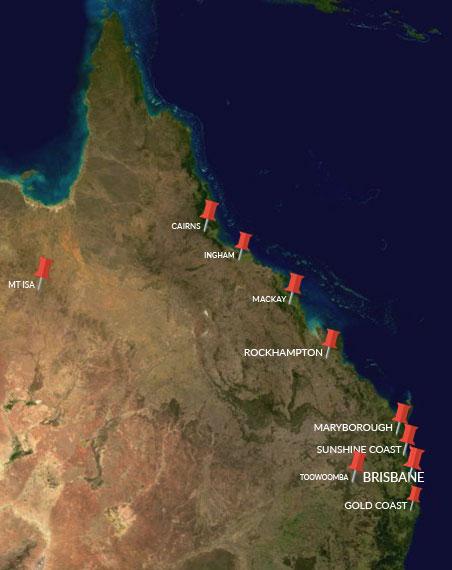 Auto-Quote Queensland Map