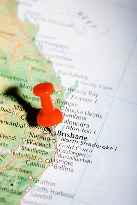 Brisbane, Queensland Map